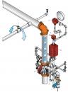 Обвязка водосигнального клапана J-1