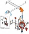 Обвязка воздушного клапана F-1