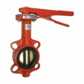 Затвор поворотный пожарный дисковый BWL с рукояткой
