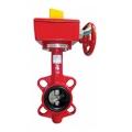 Затвор поворотный пожарный дисковый BWGT с редуктором и контролл